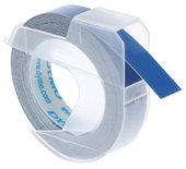 LETTERTAPE DYMO ROL 9MMX3M GLOSSY VINYL PROF BLAUW